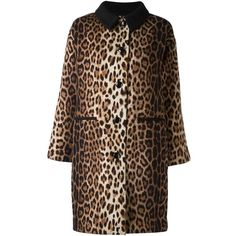 Boutique Moschino leopard print coat ($870) ❤ liked on Polyvore featuring outerwear, coats, brown, brown coat, print coat, leopard print coat, pattern coat and leopard coat