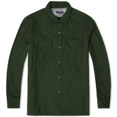 Engineered Garments Classic Shirt (Green Brushed Herringbone)
