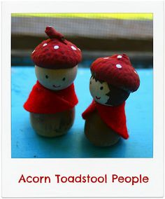 Twig and Toadstool: Toadstool Acorn People! With tutorial!!  http://twigandtoadstool.blogspot.com/2012/06/toadstool-acorn-people.html