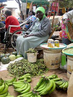 At a market in Kenya.