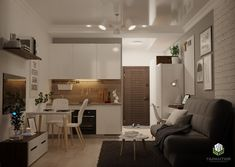 Small Apartment Layout, Small Appartment, Studio Apartment Design, Small Apartment Interior, Condo Interior, Small Apartment Kitchen, Apartment Balcony Decorating, Apartments Decorating, Small Kitchens