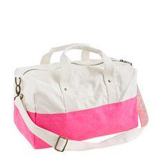 Girls J.Crew canvas overnight bag $36.50