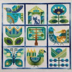 960107 added a photo of their purchase Cross Stitch Sampler Patterns, Cross Stitch Samplers, Modern Cross Stitch Patterns, Cross Stitch Charts, Cross Stitch Designs, Cross Stitch Bird, Cross Stitch Animals, Cross Stitching, Diy Embroidery