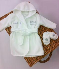 Personalised baby bath robe and hotel slippers. So cute! Unusual Christmas  Gifts ec46712ec