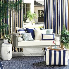 Where can I find porch swing? Shop Ballard Designs for the perfect porch swing and outdoor hammock for stylish outdoor relaxation! Outdoor Furniture, Decor, Porch Swing, House With Porch, Outdoor Curtains, Patio Decor, Furniture, Gaming Decor, Outdoor Furniture Sets