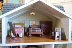 The Franklin Mint Memories of Christmas Dollhouse Norman Rockwell Doll House 3