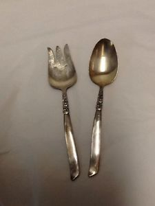South-Seas-Community-Serving-Spoon-Fork-Oneida-Silverplate-Vintage