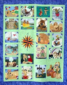 """2005 - Rescue Quilt   """"Airedales on Howlidays"""""""