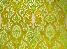 // chartreuse damask fabric