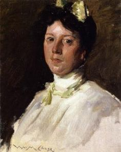 Portrait of a Young Girl - William Merritt Chase - The Athenaeum
