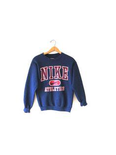 Vintage 1990s NIKE Swoosh Athletic Sweatshirt Sz S by FreshtoDeathVintage on Etsy