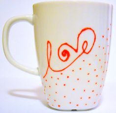 Love Coffee Mug Valentines Day Gift  Dishwashe by DreamAndCraft, $17.00