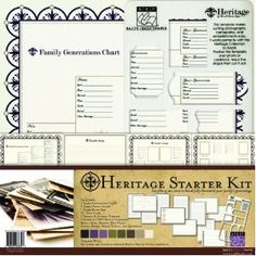 Bazzill Basics 303334 Heritage Genealogy Starter Kit