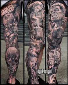Trendy Ideas Tattoo Sleeve Marvel - Each Hulk Tattoo, Spiderman Tattoo, Dc Tattoo, Avengers Tattoo, Marvel Tattoos, Tattoo Style, Marvel Tattoo Sleeve, Forearm Sleeve Tattoos, Leg Tattoo Men