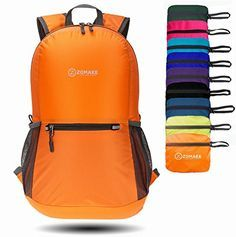 ZOMAKE Waterproof Ultra Lightweight Packable Backpack Hiking Daypack,Small Backpack Handy Foldable Camping Outdoor Backpack Little Bag >>> Click image for more details.