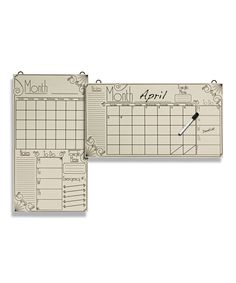 Look what I found on #zulily! Deco Dry-Erase Perpetual Calendar by Lone Elm Studios #zulilyfinds