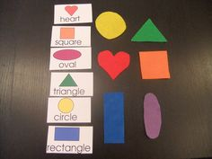 Felt Shape Match Game - Have paper big enough to hold shape might help kids match it better.