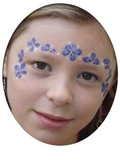 Floral frame face painting