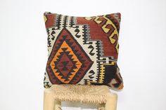 Vintage Kilim Pillow  Decorative Pillow  16x16  by KilimBazaar