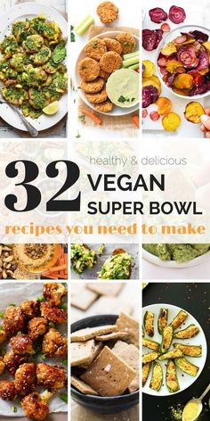 A collection of 32 healthy and delicious vegan super bowl recipes! From dips, wings, spreads, potatoes and more, there's definitely something for everyone! Simply Quinoa #healthysuperbowlsnacks #healthysnacks #superbowl #vegansnacks #vegansuperbowlrecipes #healthyrecipes #simplyquinoa