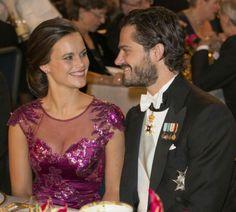 Prince Carl Philip of Sweden with his wife Princess Sofia (Sofia Kristina Hellqvist), Duke and Duchess of Vårmland.