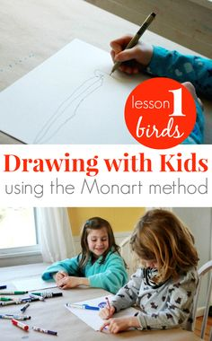 Drawing with Kids using the Monart method gives children the tools and skills to draw more accurately and the confidence to continue drawing past age 8.