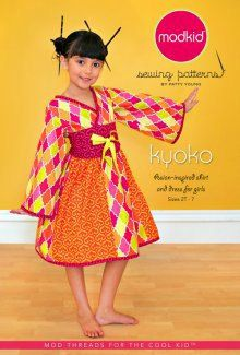 Miss M loves this!  Kyoko Asian Inspired Shirt Dress Modkid Sewing by BellaFabrics, $10.99