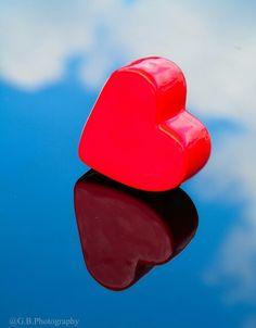 Red heart, Blue sky.....