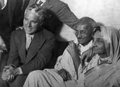 Mahatma Gandhi with Charlie Chaplin in London in 1931.