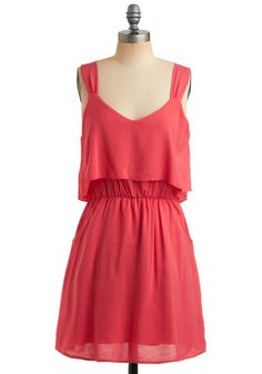 Coral Dress, #ModCloth