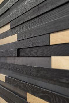 Pared madera negra natural