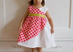 sweet tartan dress tutorial // skirt as top