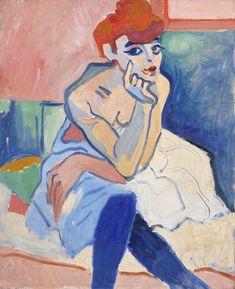 """«Femme en chemise ou danseuse» (""""Woman in shirt or dancer,"""")  André Derain. Photo SMK. ADAGP, Paris 2015. On display at Musée d'Orsay, Paris."""