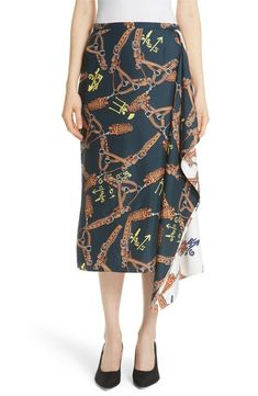1941eced94869 online shopping for Tibi Renzo Scarf Print Asymmetrical Silk Skirt from top  store. See new offer for Tibi Renzo Scarf Print Asymmetrical Silk Skirt