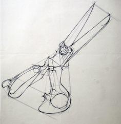 가위 Basic Drawing, Technical Drawing, Copic Drawings, Art Drawings, Adventure Time Tattoo, Academic Drawing, Structural Drawing, Scissors Design, Isometric Drawing