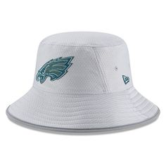 c84a29b9494c5 Philadelphia Eagles New Era 2018 Training Camp Official Bucket Hat – Gray