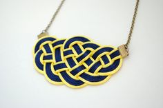 Big Sailor's Knot Nautical Necklace in Yellow and by elfinadesign, $27.00