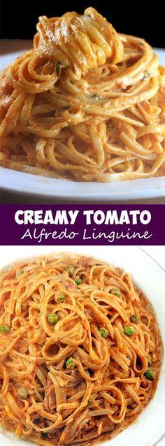 Creamy Tomato Alfredo Linguine
