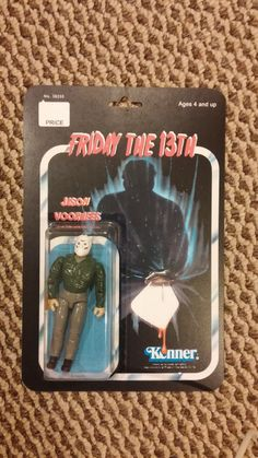 """Friday The Jason Voorhees Action Figure 80s Movies, Horror Movies, Jason Voorhees Action Figure, Horror Action Figures, Horror Merch, Kenner Toys, Horror Monsters, Friday The 13th, Sideshow Collectibles"