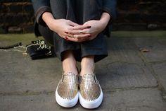 Metallic trend #crline skateshoe must have summer 2014!