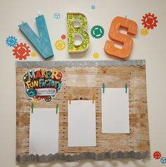 or other VBS notes Vbs Crafts, Bible Crafts, Gadgets And Gizmos Vbs, Maker Fun Factory Vbs, Maker Labs, Kids Sunday School Lessons, Vbs Themes, Id Card Template, Church Activities