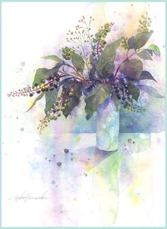 Yoko Harusaki Gallery of New Site 2 Japan Watercolor, Watercolor And Ink, Watercolor Flowers, Watercolor Paintings, Toilet Paper Crafts, Fruit Art, Illustrations And Posters, Great Artists, Amazing Art