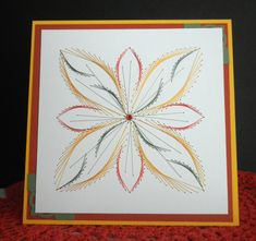 TLC430 Abstract Flower This is embroidery on paper. Beautiful