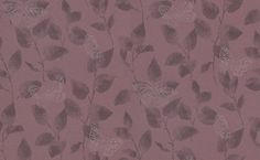 Romantic Butterfly (3043-39) - Albany Wallpapers - A pretty romantic effect with delicate leaves and metallic silver butterflies on a glitter clover pink background. Co-ordinating plain available. Paste the wall. Please request sample for true colour match.