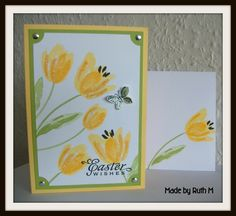 easter cards stampin up | Posted by Ruth M at 19:31