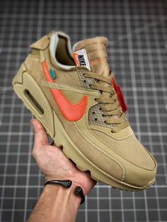detailed look f30f9 fcbee OFF-WHITE X NIKE AIR MAX 90 2.0 Nike Boots Mens, Nike Shoes Men
