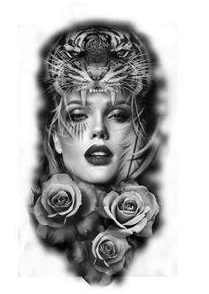 Best Picture For abdomen hombre F. Indian Tattoo Design, Tiger Tattoo Design, Skull Tattoos, Tribal Tattoos, Sleeve Tattoos, Girl Face Tattoo, Native Tattoos, Full Sleeve Tattoo Design, Tatoo Designs