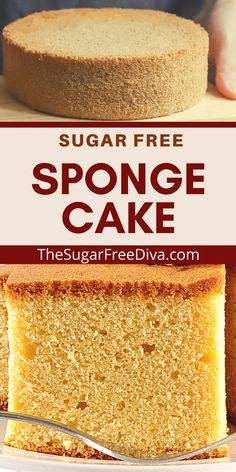 Make a great tasting dessert without adding a lot of sugar. This recipe for sponge cake is perfect for birthdays, holidays, snacks, dessert or any time!