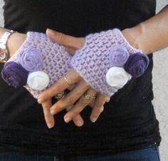 Items similar to Crochet tea gloves, hand warmers, fingerless Gloves, wrist warmers in lovely lilac on Etsy Crochet Gloves Pattern, Crochet Wool, Crochet Mittens, Fingerless Mittens, Diy Crochet, Crochet Ideas, Wrist Warmers, Hand Warmers, Knitting Projects