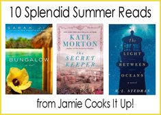 10 Great Summer Reads suggested by Jamie Cooks It Up!